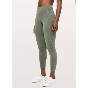 "Lululemon To The Beat Tight 24"" - Sage Green"